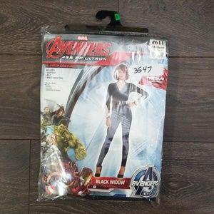 Avengers Black Widow 4 Piece Costume-Adult Med